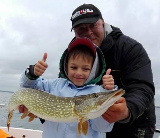 Müritz angeln mit Kindern